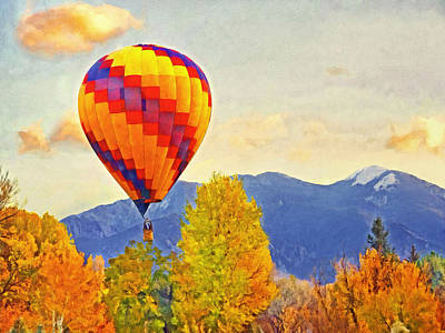 Digital Art - The Taos Mountain Balloon Rally 1 by Digital Photographic Arts