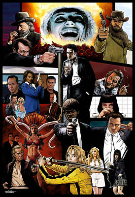 Reservoir Dogs Digital Art - The Tarantinoverse by Dan Avenell