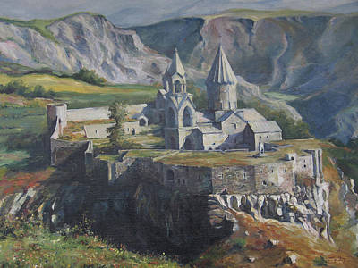 Painting - The Tatev Monastery by Tigran Ghulyan