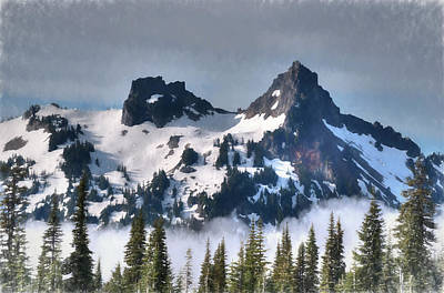 Painting - The Tatoosh, Washington, Usa by Greg Sigrist