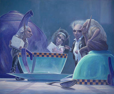 Party Painting - The Tea Party by Leonard Filgate