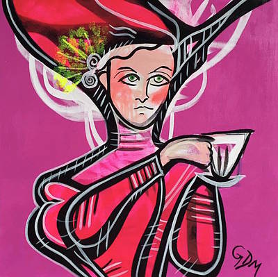 Painting - The Teacup by Geoffrey Doig-Marx