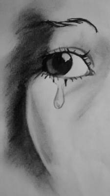 Tears Drawing - The Tear Of Hope by Sylvester Wofford