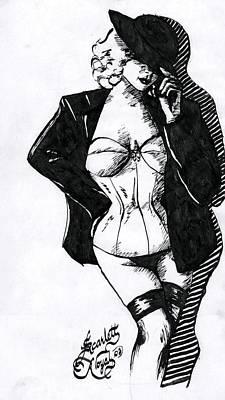 The Tease Art Print by Scarlett Royal