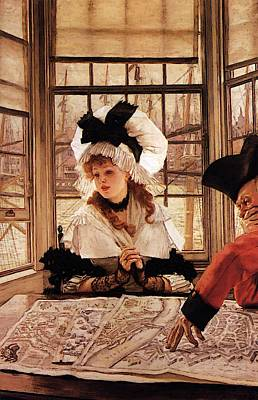 Digital Art - The Tedious Story by James Jacques Joseph Tissot
