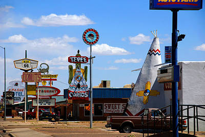 Curios Photograph - The Tee-pee Curios On Route 66 Nm by Susanne Van Hulst