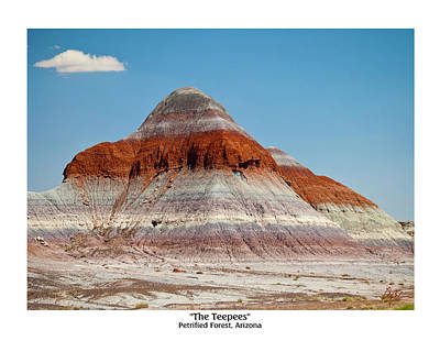 The Teepees - Petrified Forest, Arizona Art Print by Phil Balcastro