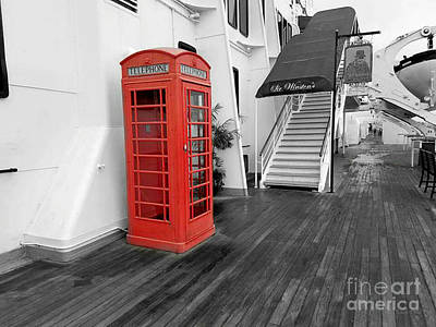Photograph - The Telephone Booth by Robert ONeil