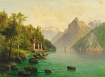 Painting - The Tellskapelle On Lake Lucerne by Anton Pick