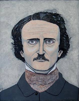 Painting - The Telltale Heart Of Edgar Allen Poe. by Ken Zabel