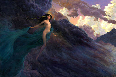 Sorceress Painting - The Tempest by Richard Hescox