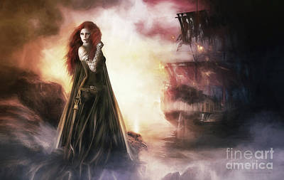 Fantasy Digital Art - The Tempest by Shanina Conway