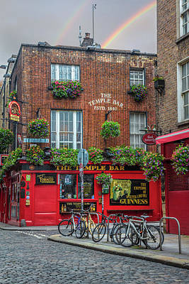 Photograph - The Temple Bar In Ireland by Debra and Dave Vanderlaan