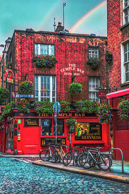 Photograph - The Temple Bar In Ireland Early Evening by Debra and Dave Vanderlaan