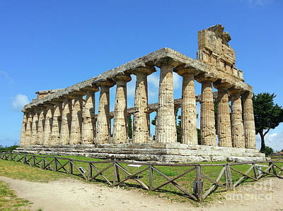 Photograph - The Temple Of Athena In Paestum by Gregory Dyer