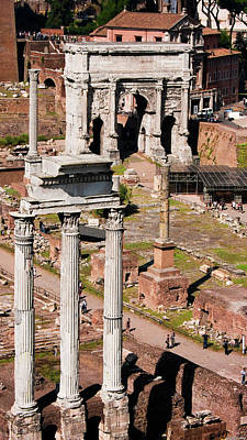 Photograph - The Temple Of Castor And Pollux At The Forum From The Palatine by Weston Westmoreland