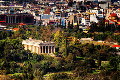 Hephaestus Wall Art - Photograph - The Temple Of Hephaestus - Athens, Greece by Nico Trinkhaus