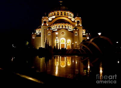 Art Print featuring the photograph The Temple Of Saint Sava In Belgrade  by Danica Radman