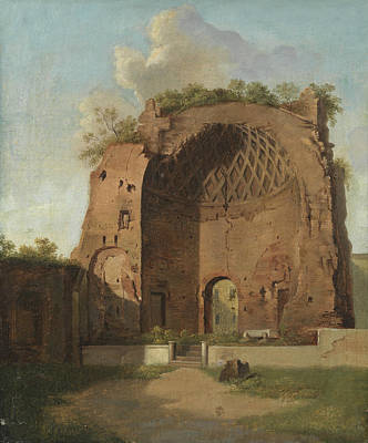 Painting - The Temple Of Venus And Roma, The Roman Forum, Rome by Thorald Laessoe