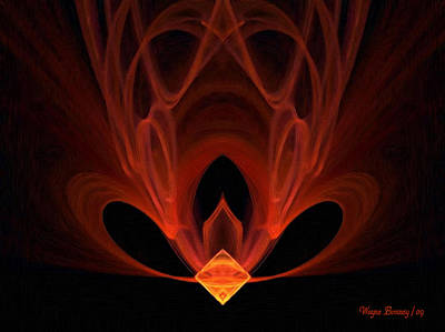 Abstact Painting - The Temple Within by Wayne Bonney