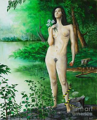 The Temptation Of Eve Art Print by Christopher Keeler Doolin
