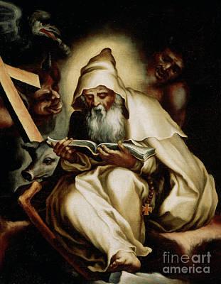 Wise Old Man Painting - The Temptation Of Saint Anthony by Lelio Orsi da Novellara
