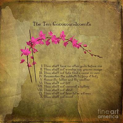 Photograph - The Ten Commandments by Renee Trenholm