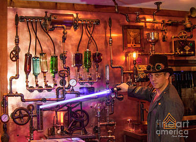 Steampunk Royalty-Free and Rights-Managed Images - The Tender 2 Steampunk Interior Design 7 Atlanta Man-Cave Art by Reid Callaway