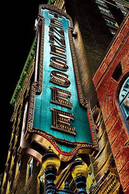 Digital Art - The Tennessee Theatre In Knoxville by David Patterson