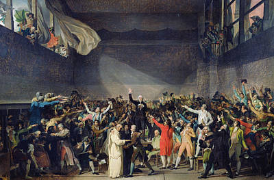 French Revolution Painting - The Tennis Court Oath by Jacques Louis David