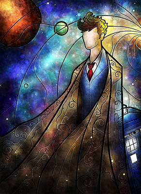 Doctor Digital Art - The Tenth by Mandie Manzano