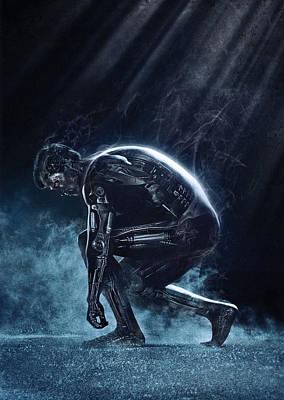 Horror Digital Art - The Terminator 1984 by Fine Artist