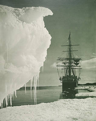 Selling Buying Online Photograph - The Terra Nova At The Ice Foot Cape Evans by Herbert Ponting