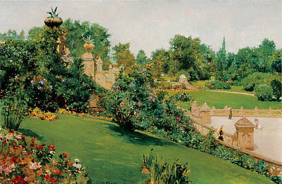 Photograph - The Terrace Central Park New York by William Merritt Chase
