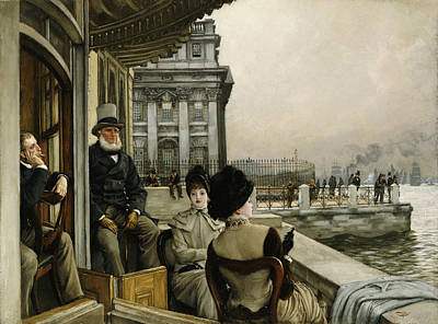 The Terrace Of The Trafalgar Tavern Greenwich Art Print
