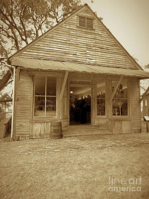 Photograph - The Terry Store Sepia by D Hackett
