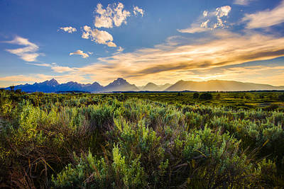 Photograph - The Teton Range by Adam Mateo Fierro