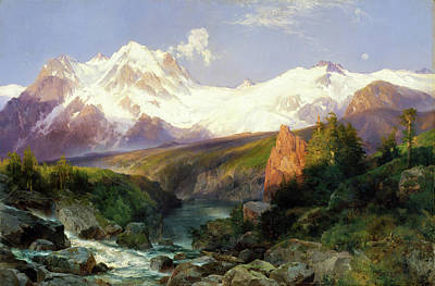 Painting - The Teton Range Painting By Thomas Moran                               by Thomas Moran
