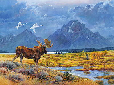 The Teton Trio Art Print