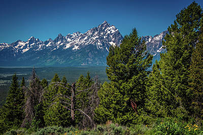 Photograph - The Tetons From Signal Mountain by Yeates Photography