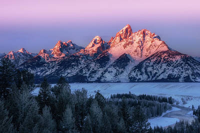 Photograph - The Tetons by Jeff Handlin
