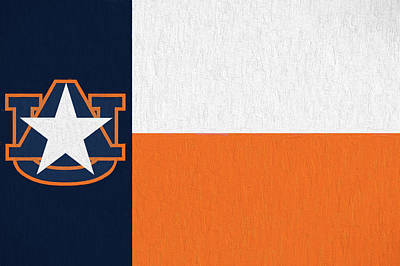 Photograph - The Texas Auburn Flag by JC Findley