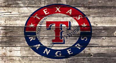The Texas Rangers 4a Art Print by Brian Reaves