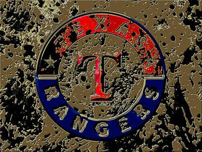 The Texas Rangers 6a Art Print by Brian Reaves