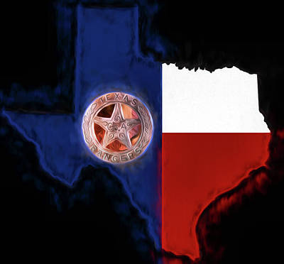 Digital Art - The Texas Rangers by JC Findley