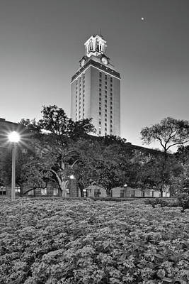 Ut Austin Photograph - The Texas Tower By Moonlight by Rob Greebon