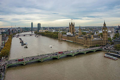Photograph - The Thames At Sunset by Lindy Grasser
