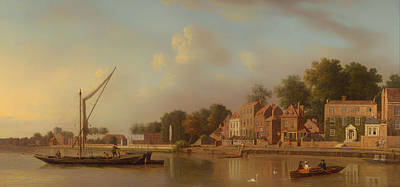 Geese Painting - The Thames At Twickenham by Mountain Dreams