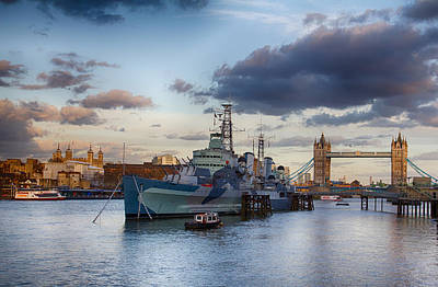 Photograph - The Thames From The South Bank by Leah Palmer