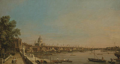 Painting - The Thames From The Terrace Of Somerset House, Looking Toward St. Paul's by Canaletto